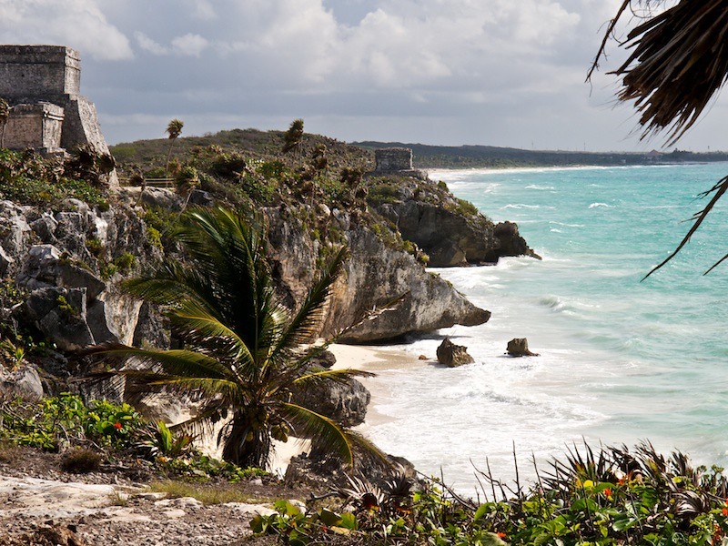 Tulum shoreline