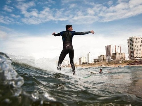 Surfing in Gaza