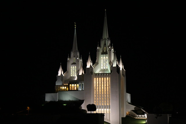 San Diego Mormon Temple At Night Flickr Photo Sharing