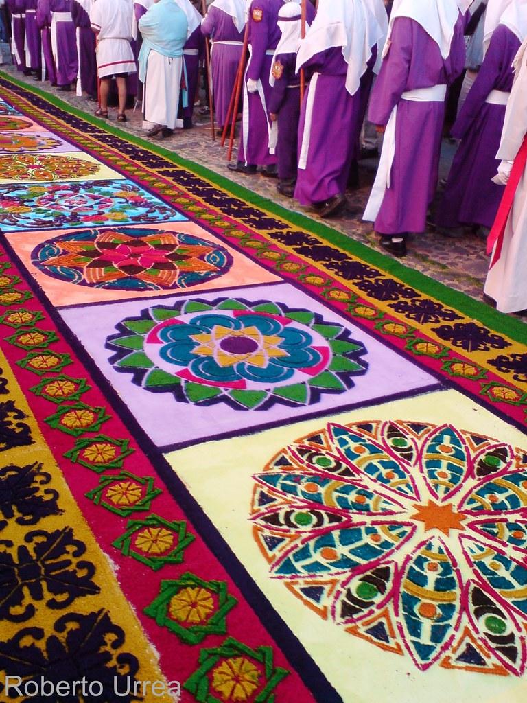 Alfombra para la procesi n de jes s de la merced del for Antigua alfombras
