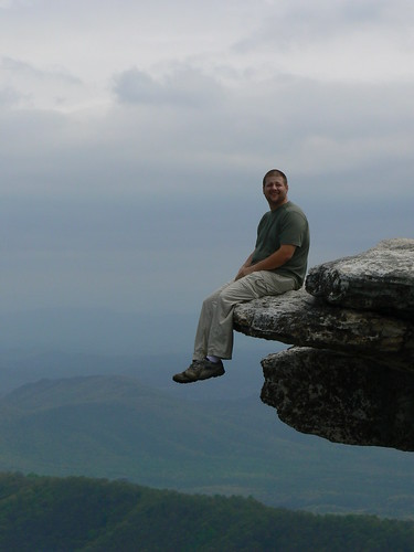 McAfee's Knob - Thomas on Edge (Close)