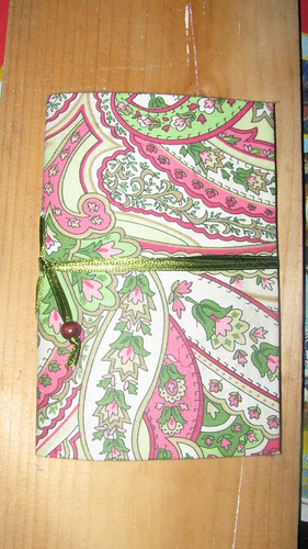 Completed Fabric Notebook