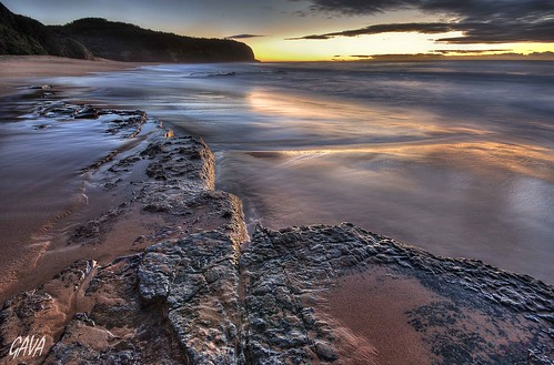 ocean reflection beach water sunrise rocks hdr gava turrimetta