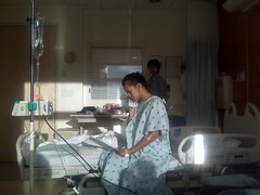 My niece in the hospital