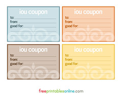 printable iou coupons archives page 2 of 2 free printables online. Black Bedroom Furniture Sets. Home Design Ideas