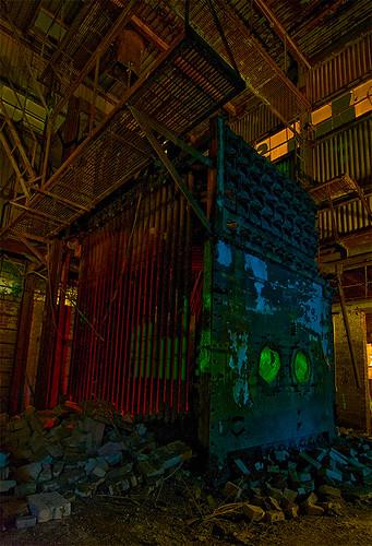 abandoned night texas machine sherman