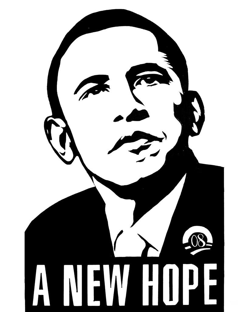 Obama Hope Change Poster Obama a New Hope Poster