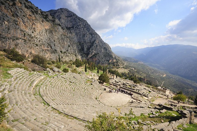 The theatre at Delphi, Greece. See where this picture was taken. [?]
