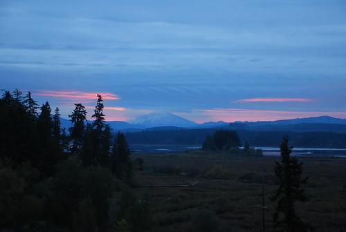 sunrise silverlake washingtonstate mountsthelens castlerock blueheroninn