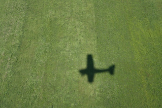The shadow of a Cessna.