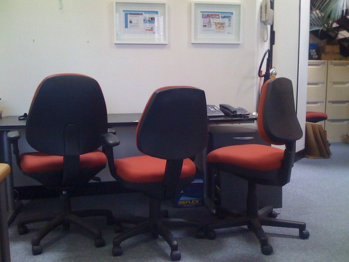 empty office chairs