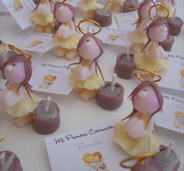 Souvenirs | Angelitas realizadas en porcelana fría para una