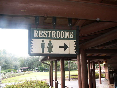 Pioneer Hall Restrooms - Sign