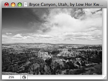 Bryce Canyon, Utah, by Low Hor Kwai.jpeg @ 25% (Channel Mixer 1, Layer Mask/8)