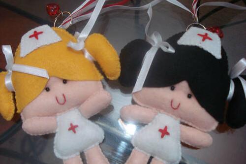 Enfermeirinhas!!!! by Tutti I Colori - Artesanato Personalizado