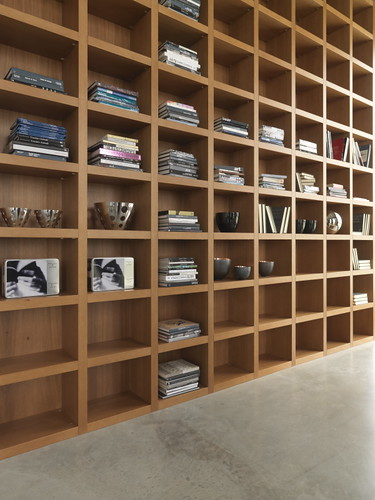 "Mazzali: ""Krea"" bookcase / libreria ""Krea"". Living and office area"