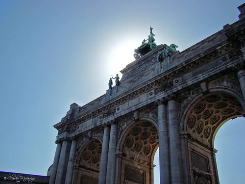 Brussels, Belgium 102 - Parc du Cinquantenaire -  Triumphal arch