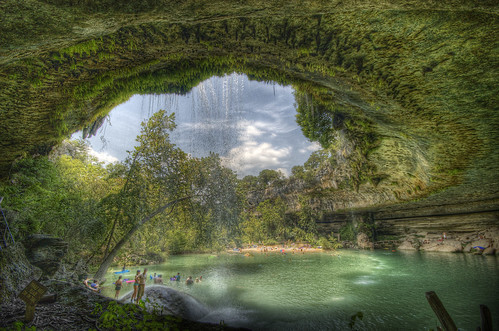 pool rock swimming austin waterfall texas tx explore cave hdr swimminghole hamiltonpool photomatix 4exp