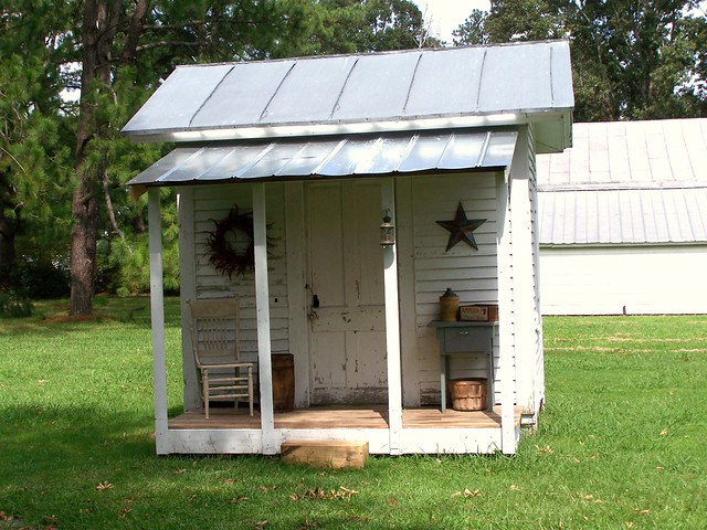 My new old garden shed flickr photo sharing for Rustic shed with porch