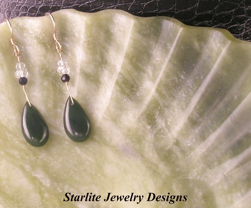 Starlite Jewelry Designs ~ Jade Earrings