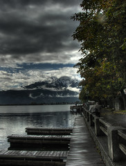 The lake in Zell am See - HDR
