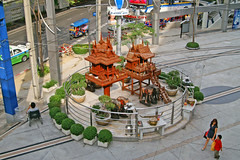 Shrine in front of MBK, Bangkok, Thailand