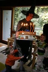 rachel the witch busts out the birthday cake    MG 2073