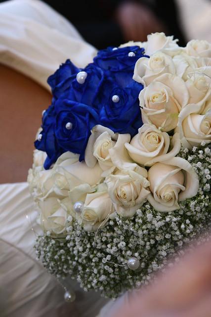 Bouquet Sposa Blu E Bianco.Lara E Fabio Sposi Fiorista Mariangela Flickr