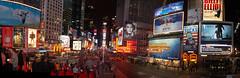 Times Square Pano at Night