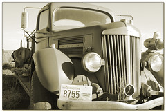 Horseless Carriage in Sepia