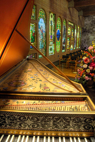 music church glass austin texas tx stained musical instrument hdr presbyterian harpsichord fpc top20texas bestoftexas