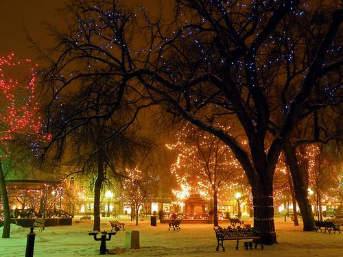 winter snow santafe night landscape lights scenery fantasy wonderland platinumphoto
