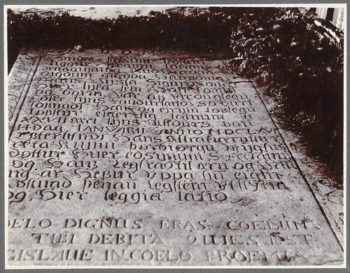 Stórólfshvoll. Tombstone with Latin inscription.