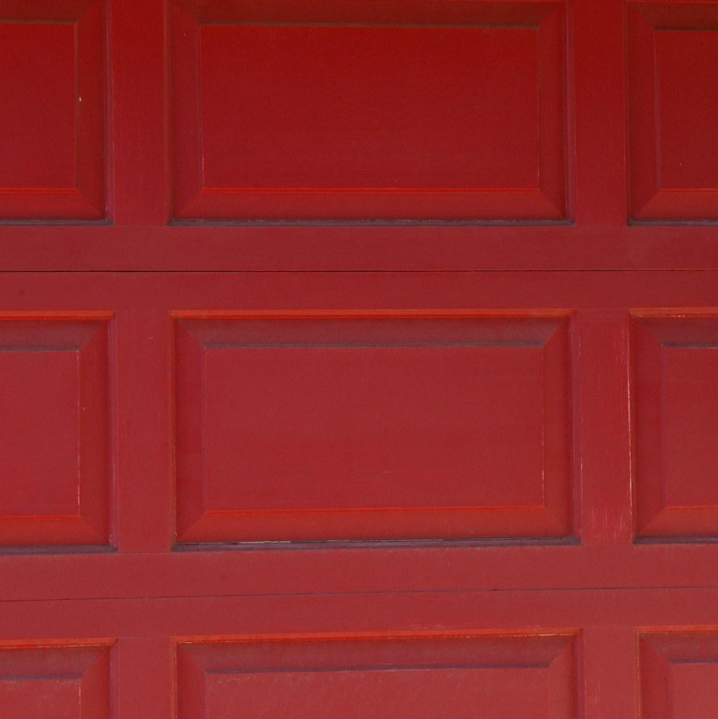 Red Garage Door A Photo On Flickriver