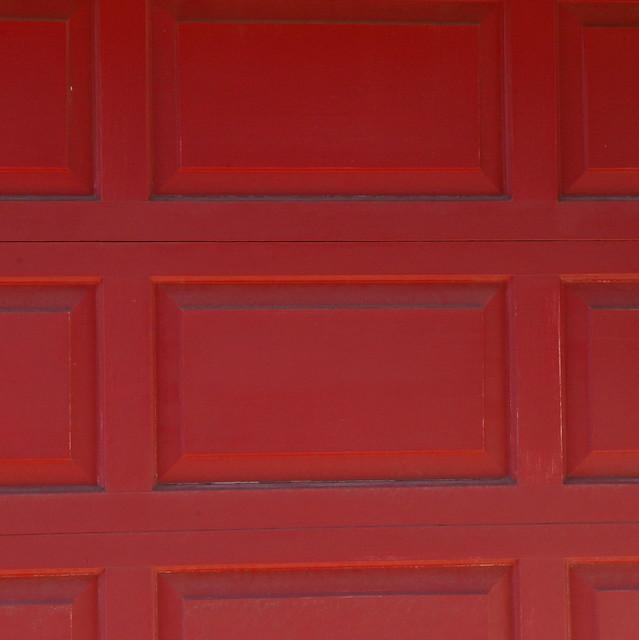 Red Garage Door Flickr Photo Sharing