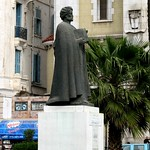 Statue of Ibn Khaldun, teacher & philosopher, in Tunis, Tunisia
