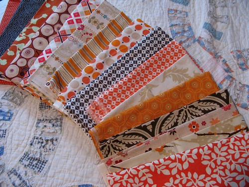 quilt palette I oranges + browns