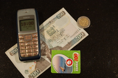 Mobile Phone with Money in Kenya