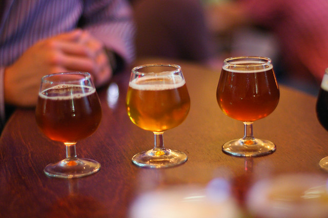 draught sampler, Beer Bistro (Toronto)
