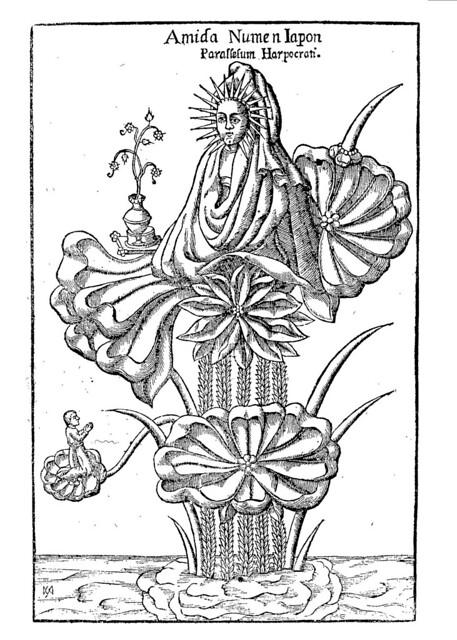 "Athanasius Kircher ""The Japanese deity Amida ""(1652-1654)"