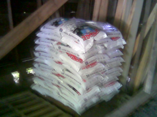 One ton of wood pellets moved by litte old me flickr