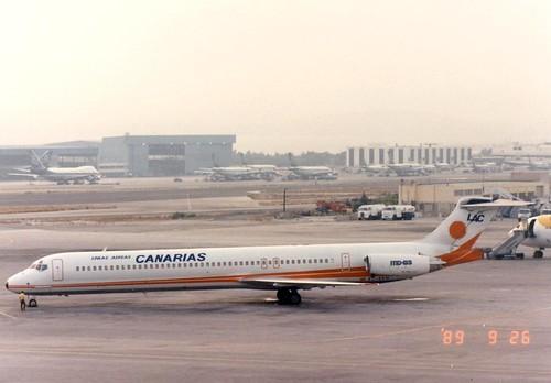LINEAS AEREAS CANARIAS MD-83 EC-EKM(cn1502)