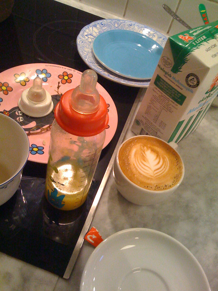 Dirty dishes & Square Mile Espresso Blend double cappuccino