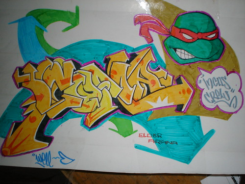 graffiti coloring pages leo - photo#42