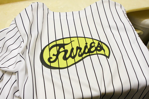 Adult Mens Movie The Warriors Furies Pinstriped Baseball Costume Jersey OR Pants