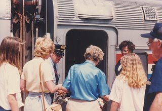 The eastbound Amtrak Broadway Limited. Lancaster Pennsylvania. August 1990. by Eddie from Chicago