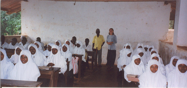 Teacher Hannah in Zanzibar, 1999
