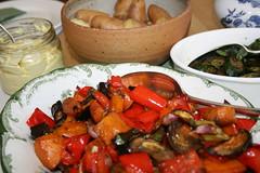 meal, vegetable, vegetarian food, food, dish, cuisine, ratatouille,