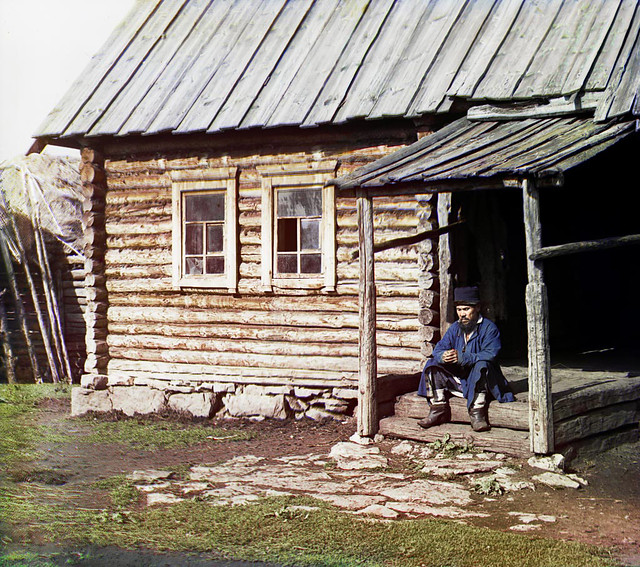 Bashkir man at his home (Ehya), 1910