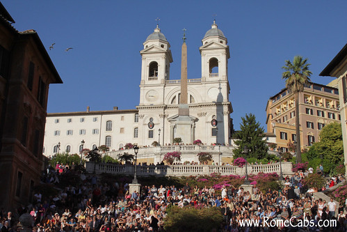 The Spanish Steps on Rome in A Day tour with Stefano's RomeCabs